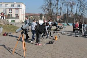 Direkte Beobachtung mit Teleskopen: Newton 4,5 Zoll, C5, C8 (Schulteleskop)