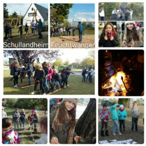 Collage Schullandheim 5a und 5 c im September 2016
